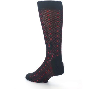 Image of Black Red Dots Fights HIV Men's Dress Socks (side-2-back-15)
