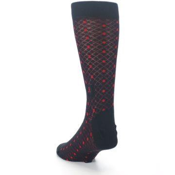Image of Black Red Dots Fights HIV Men's Dress Socks (side-2-back-16)