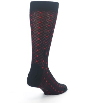 Image of Black Red Dots Fights HIV Men's Dress Socks (side-1-back-21)