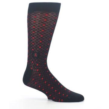 Image of Black Red Dots Fights HIV Men's Dress Socks (side-1-25)