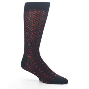 Image of Black Red Dots Fights HIV Men's Dress Socks (side-1-26)