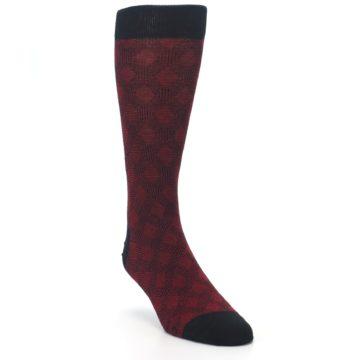 Image of Black Red Crosshatch Fights HIV Men's Dress Socks (side-1-front-02)
