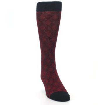 Image of Black Red Crosshatch Fights HIV Men's Dress Socks (side-1-front-03)