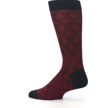 Image of Black Red Crosshatch Fights HIV Men's Dress Socks (side-2-13)