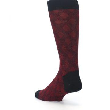 Image of Black Red Crosshatch Fights HIV Men's Dress Socks (side-2-back-15)
