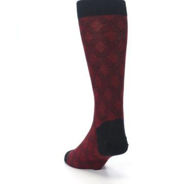 Image of Black Red Crosshatch Fights HIV Men's Dress Socks (side-2-back-16)