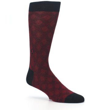 Image of Black Red Crosshatch Fights HIV Men's Dress Socks (side-1-26)