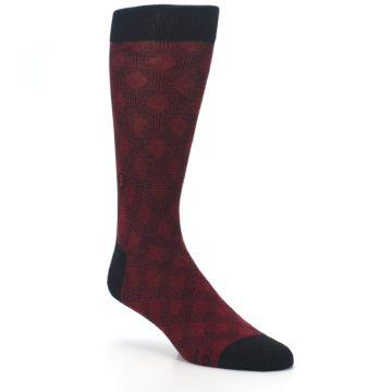 Image of Black Red Crosshatch Fights HIV Men's Dress Socks (side-1-27)