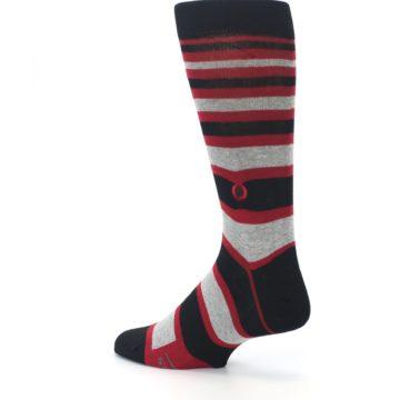 Image of Black Red Stripe Global Citizen Men's Dress Socks (side-2-back-14)