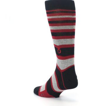 Image of Black Red Stripe Global Citizen Men's Dress Socks (side-2-back-15)