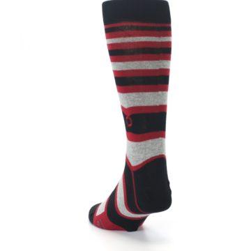 Image of Black Red Stripe Global Citizen Men's Dress Socks (side-2-back-16)