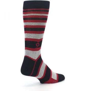 Image of Black Red Stripe Global Citizen Men's Dress Socks (side-1-back-22)