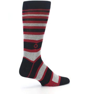 Image of Black Red Stripe Global Citizen Men's Dress Socks (side-1-23)