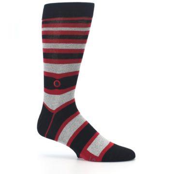 Image of Black Red Stripe Global Citizen Men's Dress Socks (side-1-25)