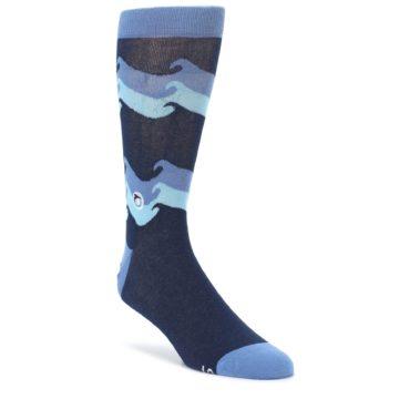 Blue Wave Ocean Protection Mens Dress Socks Conscious Step