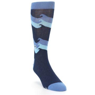 Image of Blue Wave Ocean Protection Men's Dress Socks (side-1-front-02)