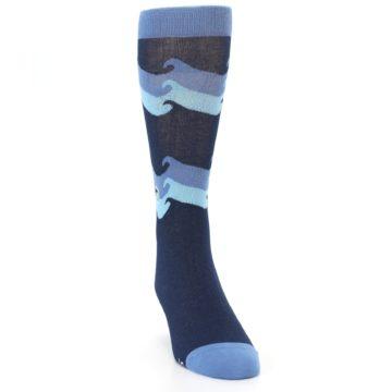 Image of Blue Wave Ocean Protection Men's Dress Socks (side-1-front-03)