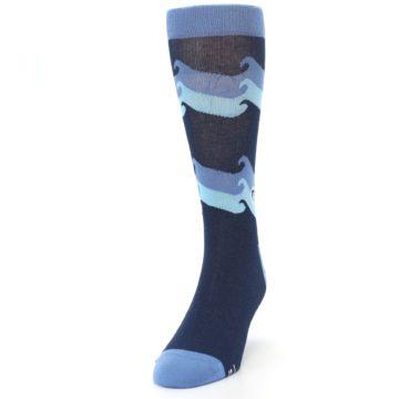 Image of Blue Wave Ocean Protection Men's Dress Socks (side-2-front-06)