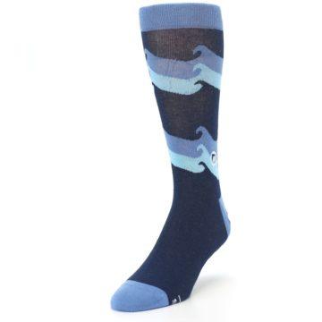Image of Blue Wave Ocean Protection Men's Dress Socks (side-2-front-07)