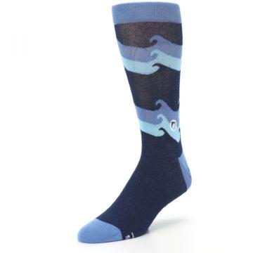 Image of Blue Wave Ocean Protection Men's Dress Socks (side-2-front-08)