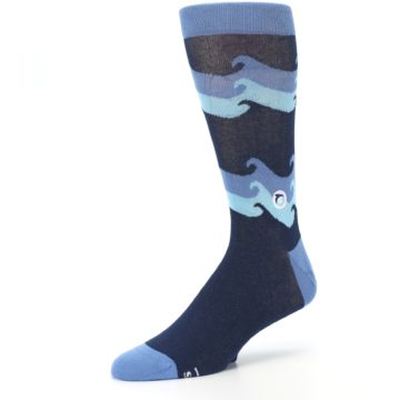 Image of Blue Wave Ocean Protection Men's Dress Socks (side-2-09)