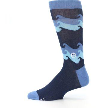 Image of Blue Wave Ocean Protection Men's Dress Socks (side-2-12)