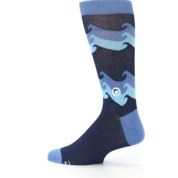 Image of Blue Wave Ocean Protection Men's Dress Socks (side-2-13)