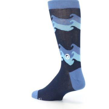 Image of Blue Wave Ocean Protection Men's Dress Socks (side-2-back-14)