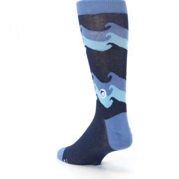 Image of Blue Wave Ocean Protection Men's Dress Socks (side-2-back-15)