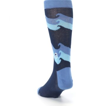 Image of Blue Wave Ocean Protection Men's Dress Socks (side-2-back-16)