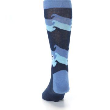 Image of Blue Wave Ocean Protection Men's Dress Socks (back-17)
