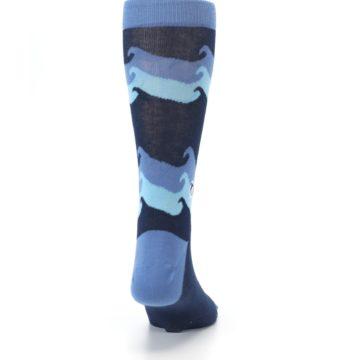 Image of Blue Wave Ocean Protection Men's Dress Socks (back-19)