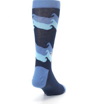 Image of Blue Wave Ocean Protection Men's Dress Socks (side-1-back-20)