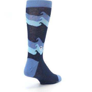 Image of Blue Wave Ocean Protection Men's Dress Socks (side-1-back-21)