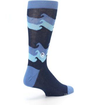 Image of Blue Wave Ocean Protection Men's Dress Socks (side-1-back-22)