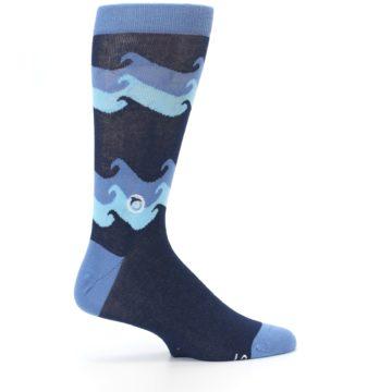 Image of Blue Wave Ocean Protection Men's Dress Socks (side-1-24)