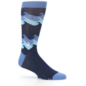 Image of Blue Wave Ocean Protection Men's Dress Socks (side-1-25)