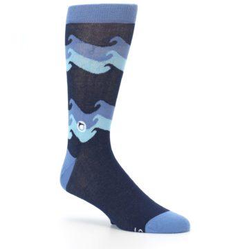 Image of Blue Wave Ocean Protection Men's Dress Socks (side-1-26)