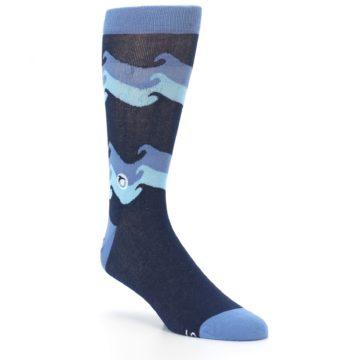 Image of Blue Wave Ocean Protection Men's Dress Socks (side-1-27)