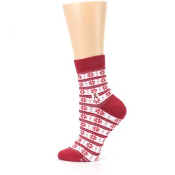 Image of Red Fair Isle Fights HIV Women's Dress Socks (side-2-12)