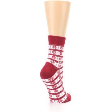 Image of Red Fair Isle Fights HIV Women's Dress Socks (side-1-back-21)