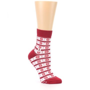 Image of Red Fair Isle Fights HIV Women's Dress Socks (side-1-26)