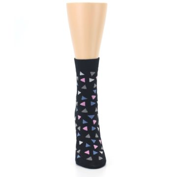 Image of Black Triangles Fights Hunger Women's Dress Socks (front-04)