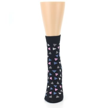 Image of Black Triangles Fights Hunger Women's Dress Socks (front-05)