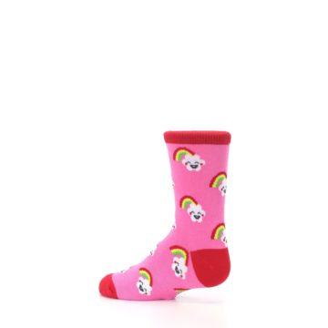 Image of Pink Cloud Rainbow Kid's Dress Socks (side-2-13)