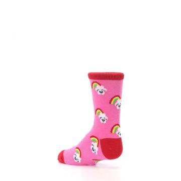 Image of Pink Cloud Rainbow Kid's Dress Socks (side-2-back-14)
