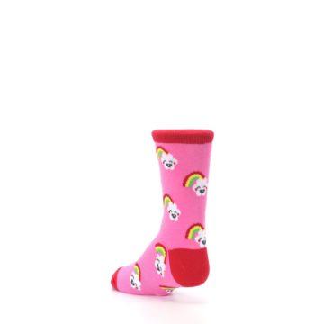 Image of Pink Cloud Rainbow Kid's Dress Socks (side-2-back-15)