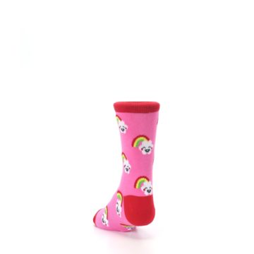 Image of Pink Cloud Rainbow Kid's Dress Socks (side-2-back-16)