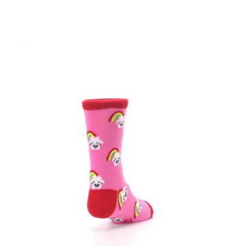 Image of Pink Cloud Rainbow Kid's Dress Socks (side-1-back-20)