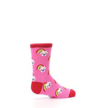 Image of Pink Cloud Rainbow Kid's Dress Socks (side-1-23)